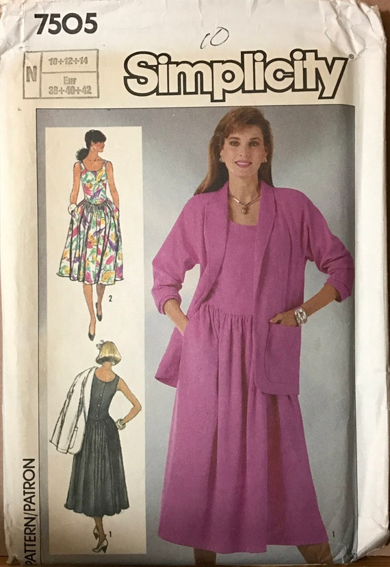 Simplicity 7505 1980s Sundress with Back Button and Below  065127044
