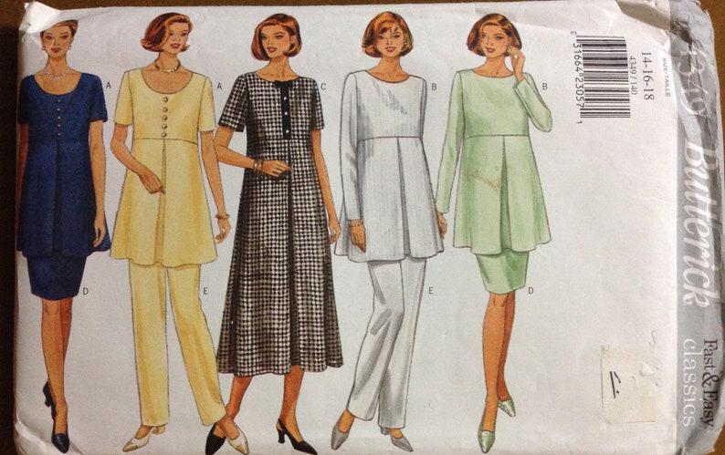 70716c630f0d4 Butterick 4349 Pattern Maternity Dress Raised Waist Round or | Etsy
