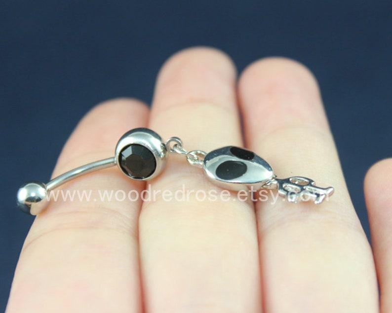 Petite ALIEN Belly Button Rings Cute Alien Jewellery Christmas Gift