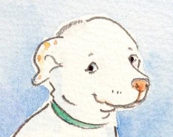 "Custom Pet Portrait: original artwork of your pet in pencil and watercolor. Approx.  8"" X 10"""