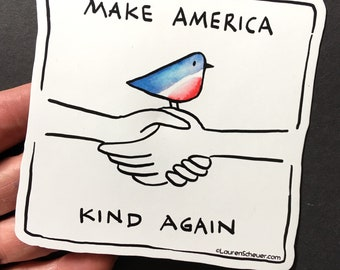 Magnet: Make America Kind Again magnet for fridge or car -  Proceeds go to ACLU (American Civil Liberties Union)