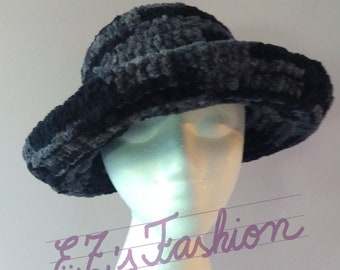SALE - Novelty Winter & Fall Hat, Handmade Original Crochet Fuzzy Hat