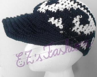 SALE - Novelty Baseball Cap, Handmade Original Crochet Cotton Cap