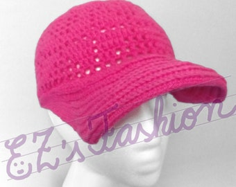 Novelty Baseball Cap, Handmade Original Crochet Cotton Cap
