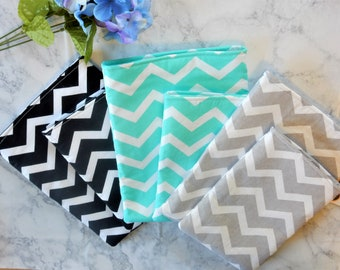 Chevron Book Sleeve, Multiple Color Options