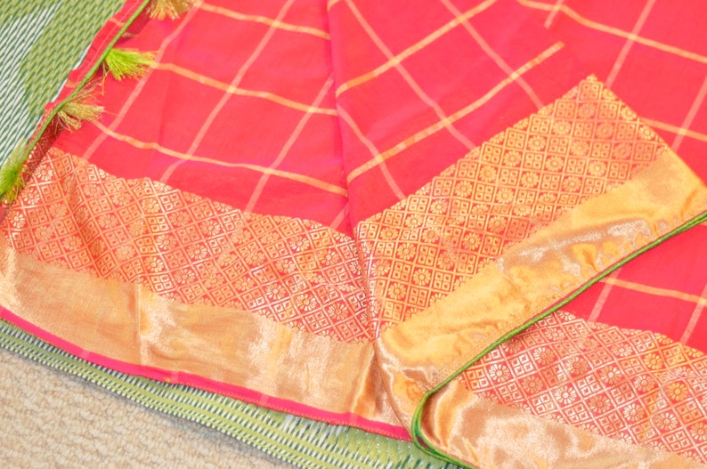 Sale 25/% Discount Pink Two Tone Silk saree Weaving Border Contrast Piping Ready to Wear Designer Blouse Zari Sleeves Tassels Bollywood Sari