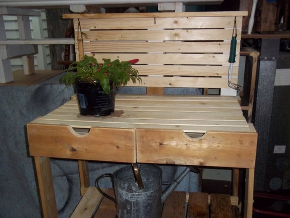 Fabulous Potting Bench W Drawers Made From Reclaimed Wood Ibusinesslaw Wood Chair Design Ideas Ibusinesslaworg