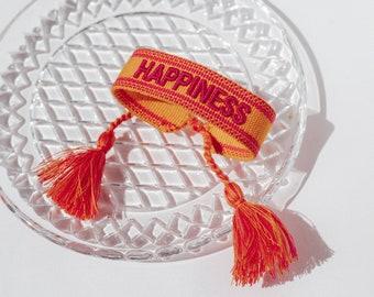 Happiness Bracelet in Orange Pink
