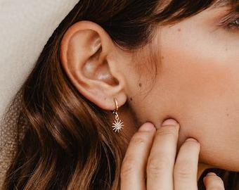Sun Earrings Gold Earrings