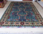 Size 6.7 x 10.3 feet Vintage Afghan Large Oriental Tree Of Life Carpet
