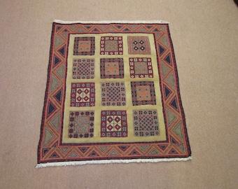 Size:2.11 ft 3.4 ft Handmade Kilim Carpet Vintage Shiraz Mishwani Kilim Rug,Gabbeh rug,Oushak Rug,Moroccan Rug,Small Rug,Best Price Rug