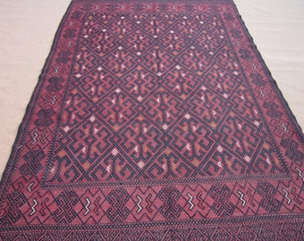 Size:10 ft by 6.5 ft Handmade Kilim Vintage Afghan Sumak Yamut Area Kilim