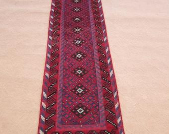 Size:8.6 ft by 2 ft Handmade Runner Afghan Tribal Mishwani Kilim/Carpet Runner