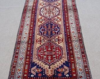 Size:9.10 ft by 3.9 ft Handmade Rug Runner Oriental Turkish Shirazi Carpet Runner,Moroccan Carpet Runner,Large Oushak Rug Runner