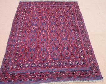 Size:6.3 ft by 4.9 ft Handmade Kilim/Carpet Afghan Tribal Mishwani Rug/Kilim