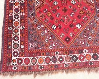 Size:9.11 ft 3.11 ft Handmade Rug Runner Vintage Pictorial Turkish Shiraazi Carpet Runner,Large Oushak Rug Runner,Red Moroccan Rug Runner