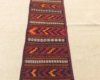 Size:9 ft by 2.3 ft Handmade Kilim Runner Afghan Tribal Vintage Qalino Kilim Runner,Moroccan Kilim Runner,Oushak Rug Runner