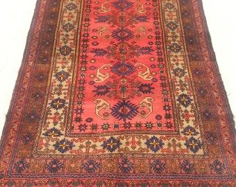 Size:8.5 ft by 4.5 ft Handmade Rug Afghan Vintage Tribal Area Carpet