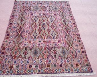 Size:6.4 ft by 4.10 ft Handmade Rug Afghan Best Mishwani Tribal Carpet/Kilim Shiraz Rug,Turkish Kilim Rug,Best Price Rug