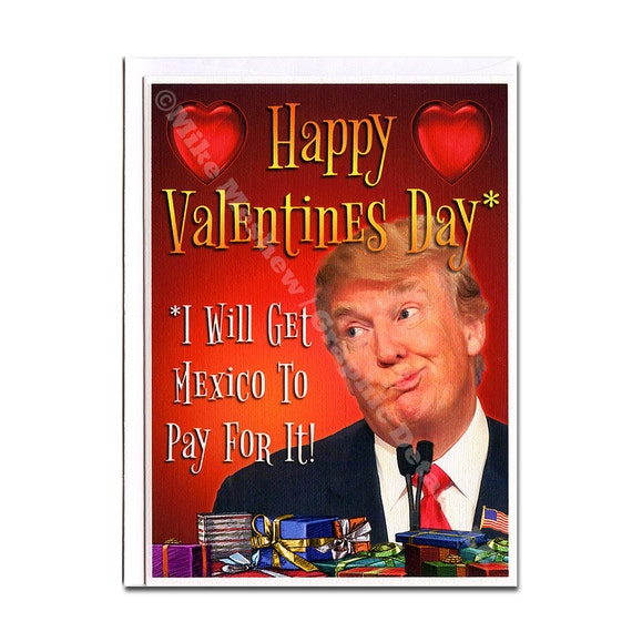Donald Trump Trump Valentine Card Trump Valentine Gift Etsy