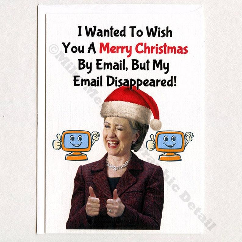 Hillary Clinton Christmas.Hillary Clinton Christmas Card Funny Christmas Card Christmas Card Christmas Party Card Trump Christmas Card Trump Christmas Gift Maga