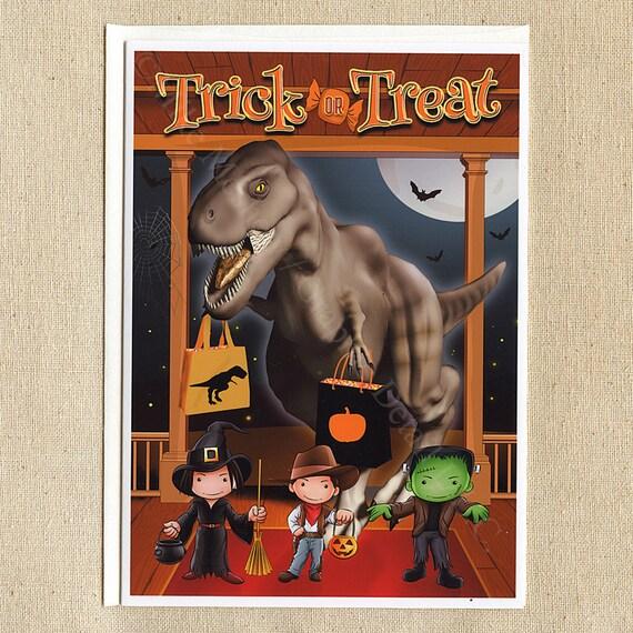 Jurassic Park Jurassic World Dinosaur Funny Halloween Card Etsy
