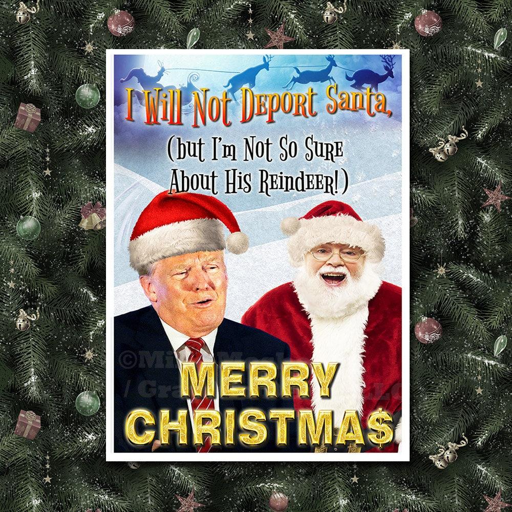 Donald Trump Santa Funny Christmas Card Trump Christmas   Etsy