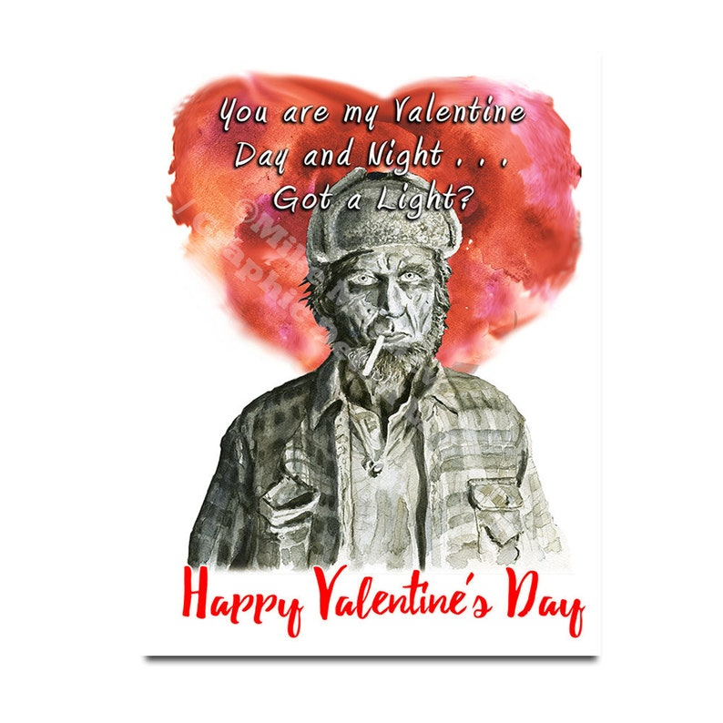 Twin Peaks Funny Valentine Card Valentine Day Card Twin image 0