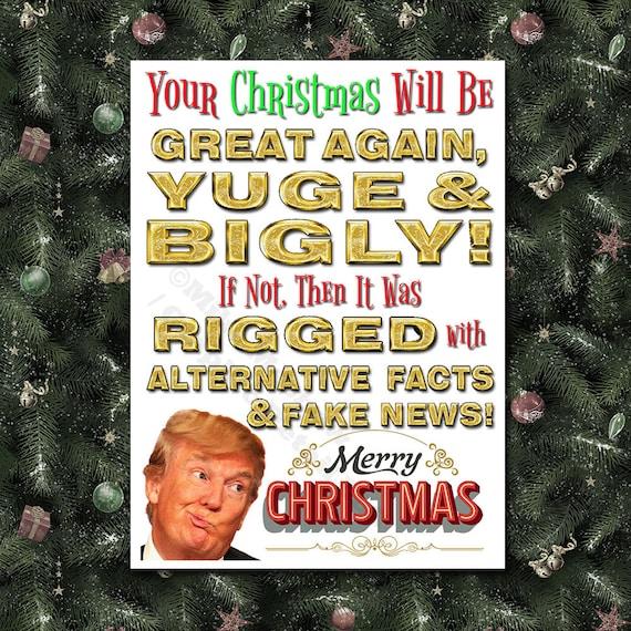 Christmas Trump Funny.Donald Trump Funny Christmas Card Trump Christmas Card Funny Trump Card Maga Christmas Card Trump Christmas Gift Maga Christmas Card