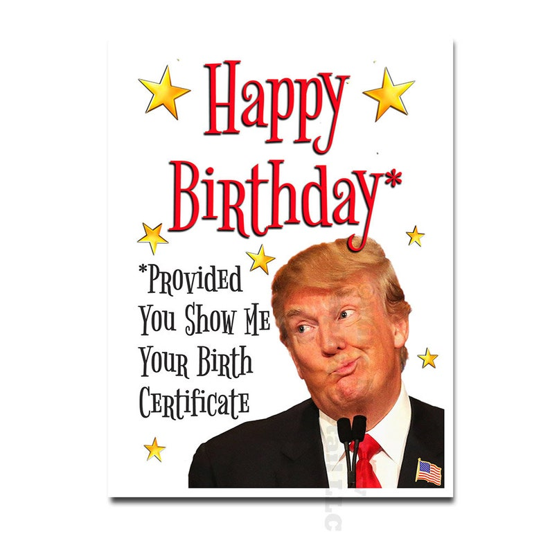 Donald Trump Birthday Card Funny