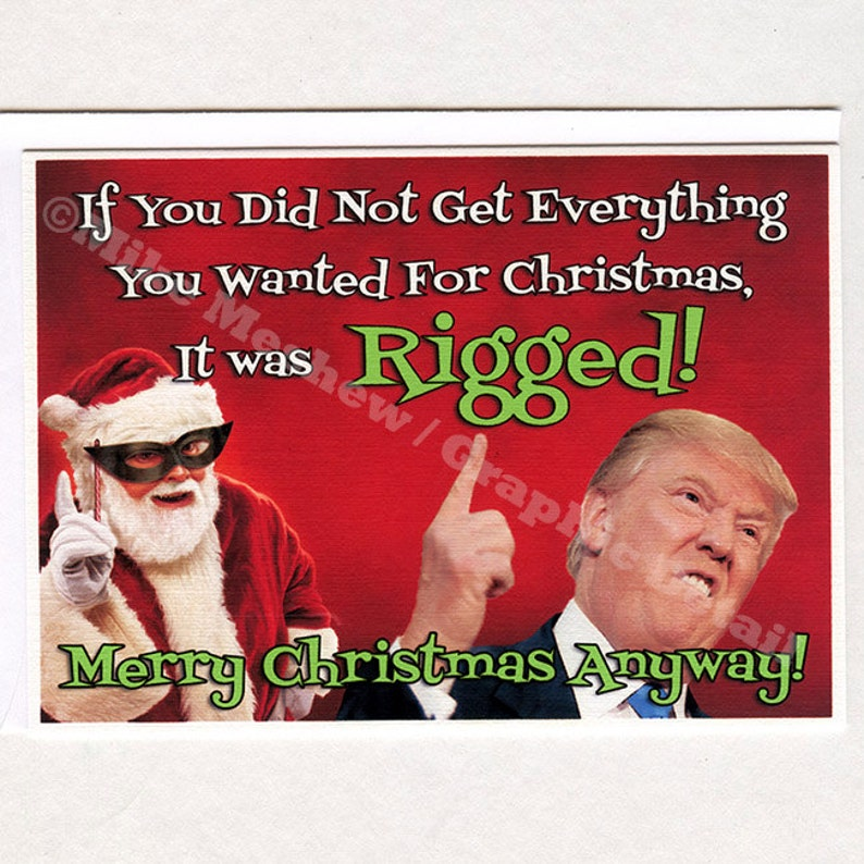 Donald Trump Trump Christmas Card Trump Christmas Gift Etsy
