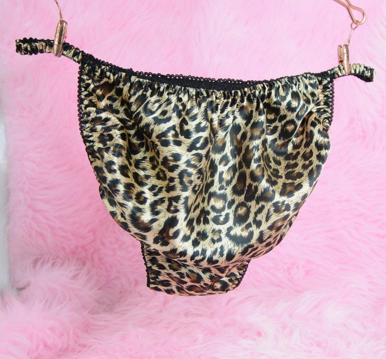 75e68d26d0 Leopard Animal Print Feisty Black MENS PANTIES Princess string