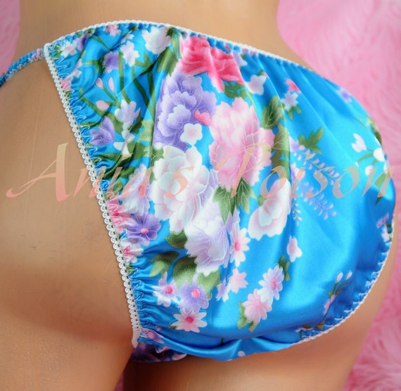 BLUE Spring Collection Floral Asian polyester Shiny wetlook  945834836