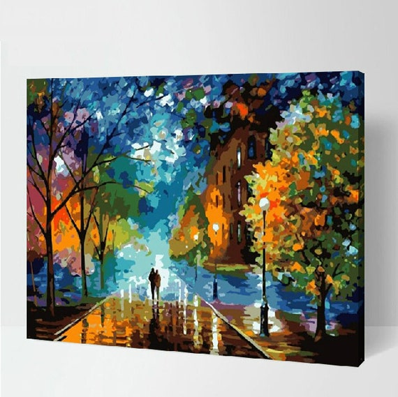 landscape diy painting kit paint by numbers kit diy oil etsy