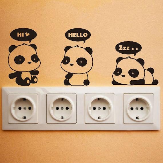 Cute Panda Wall Decal DIY Wall Sticker Wall decor Vinyl Stickers ...