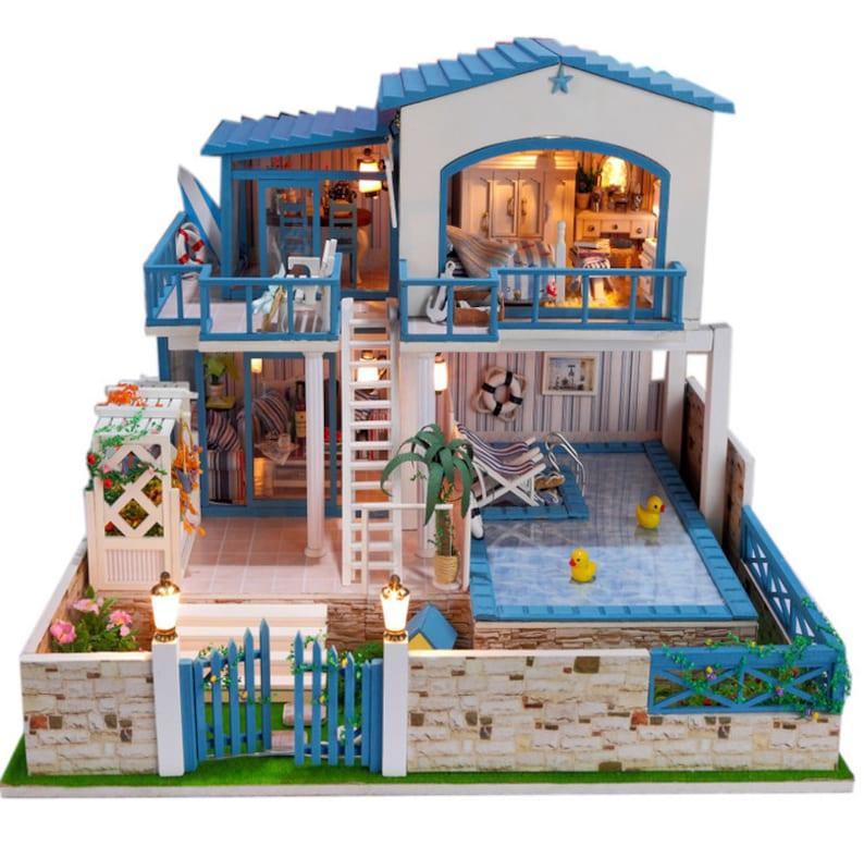 DIY Miniature Villa Music Box Model Kit Miniature Handcraft  9f19577195