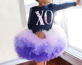 Purple Tutu, Purple Ombre Tutu, Cupcake Tutu, Girls Tutu Skirt, Extra Fluffy Tutu, Pageant Wear