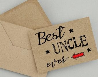Uncle,Birthday Card,Printable Card,Instant Download,Uncle Birthday Card,PDF Birthday Card,Greeting Card,Happy Birthday, Family Birthday
