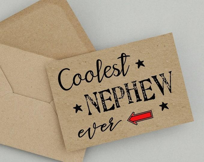 Featured listing image: Nephew, Birthday Card,Printable Card,Instant Download,Nephew Birthday Card,PDF Birthday Card,Greeting Card,Happy Birthday