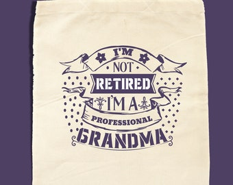 Grandma Tote Bag, Grandma Gift, Grandma To Be, Grandma Mothers Day, Tote Bag for Grandma, Colour Choice, Tote Bag for Nana