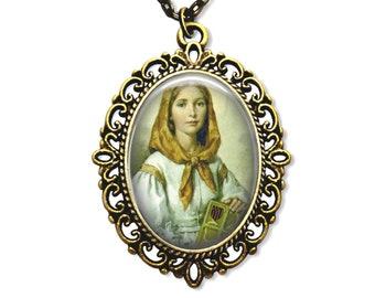 Saint Dymphna, Religious Medal, Catholic Gift, Catholic Medal, Christian Medal, Christian Gift, Catholic Jewelry, Religious Jewelry,