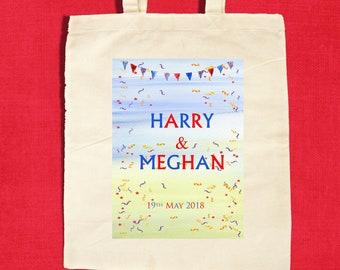 Royal Wedding Meghan Markle and Prince Harry Tote Bag, Royal Wedding Souvenir