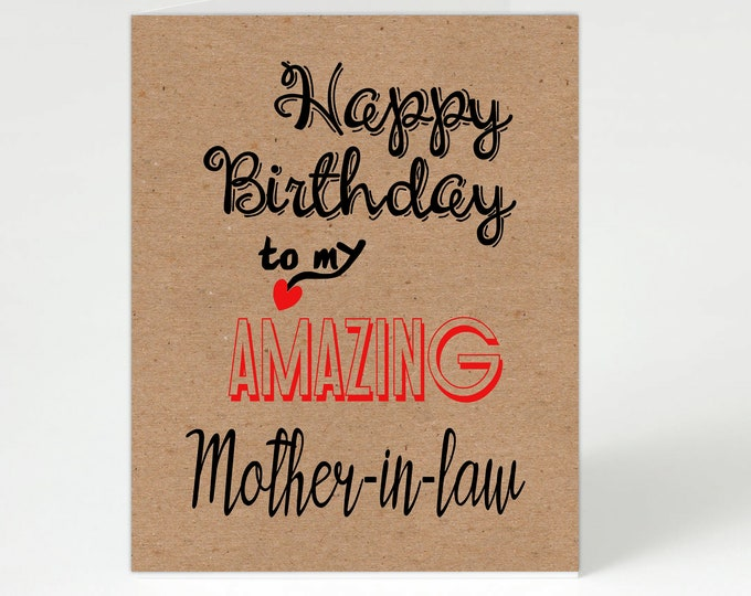 Featured listing image: Mother-in-law Birthday,Mother-in-law Card,Mother-in-law,Card for Mother-in-law,Mother-in-law Birthday Card,Personalised Mother-in-law,