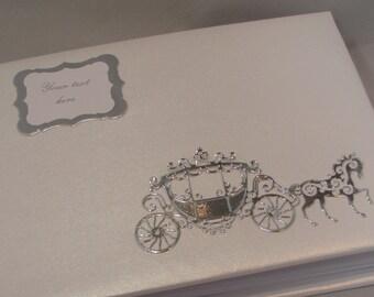 Fait à la main personnalisé cheval et carrosse mariage Photo Album Scrapbook le livre d'or