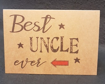 Uncle Birthday CardUncleCard For UncleUncle CardPersonalised UncleBirthday CardGreeting CardHappy