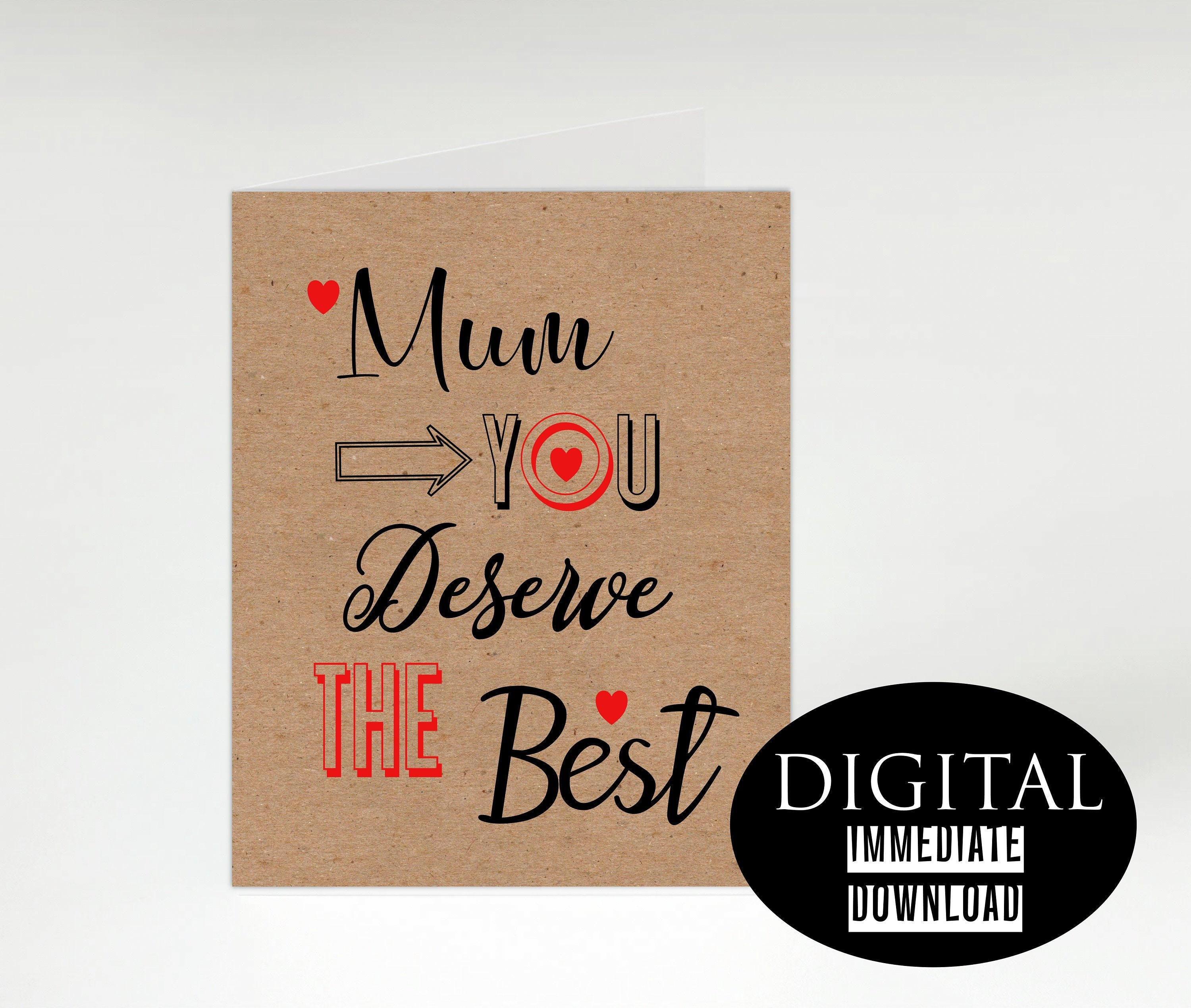 Mum Funny Birthday CardFunny Mothers Day Card MumMum CardPrintable CardInstant DownloadPDF CardCard For