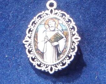 Saint Columbanus Religious Medal, Patron saint of motorcyclists and against floods