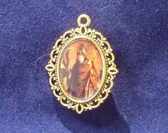 Saint Elmo Religious Medal, Saint Erasmus, Patron saint  of sailors, Catholic medal, Patron Saint of Abdominal Pain,