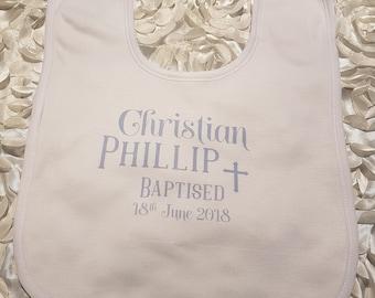 Personalised Baby Bib, Personalized Baby Bib, Personalised Baptism Gift, Personalized Baptism Gift, Baby Gift, Baptism Bib,