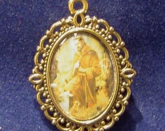 Saint Francis Religious Medal, Patron Saint of Animals, Merchants & Ecology